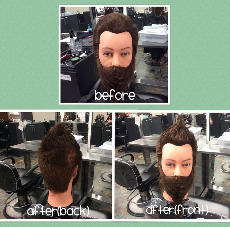I've completed a men's Fohawk haircut on my manikin using American Crew Forming Cream.
