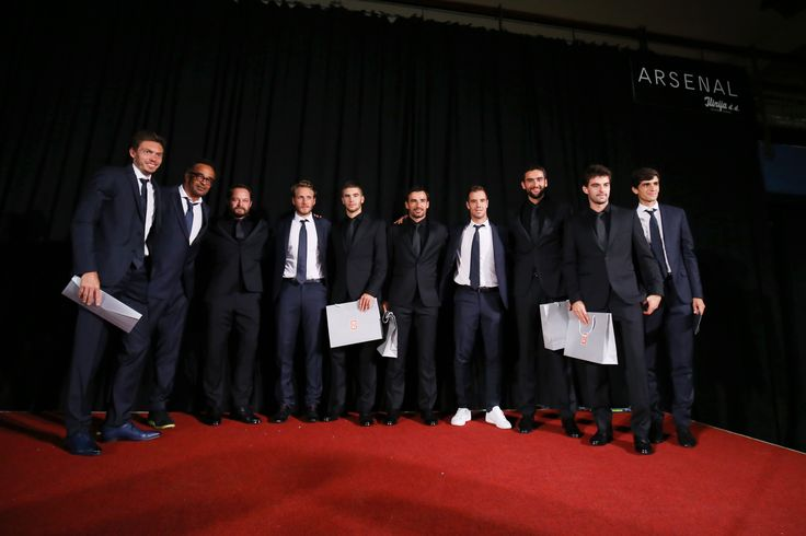 """Cro Team and French together on Arsenal stage Davis Cup dinner 2016 #daviscup #frenchteam #cro #french #tennis #arsenalzadar #somanystories #together """"daviscup2016 #semifinals #preparations #zadar"""