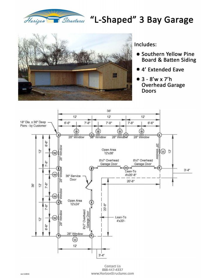 Modular L Shaped Garage With 4 39 Extension On Front Wall