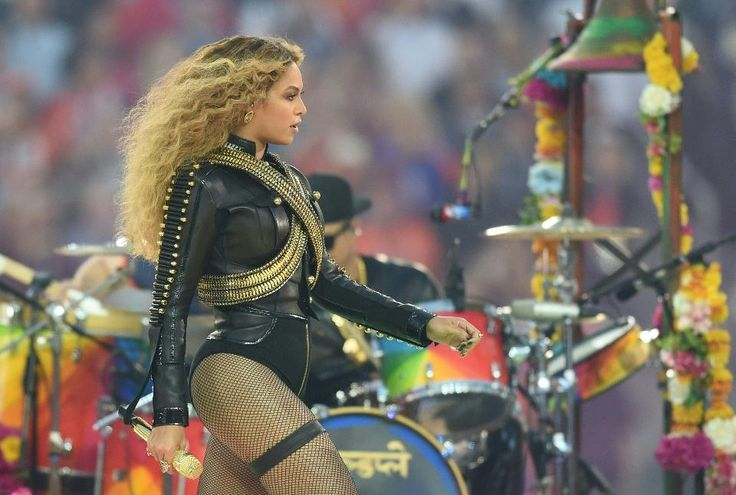 Beyonce performs during Super Bowl 50 between the Carolina Panthers and the Denver Broncos at Levi's Stadium in Santa Clara, California, on February 7, 2016.