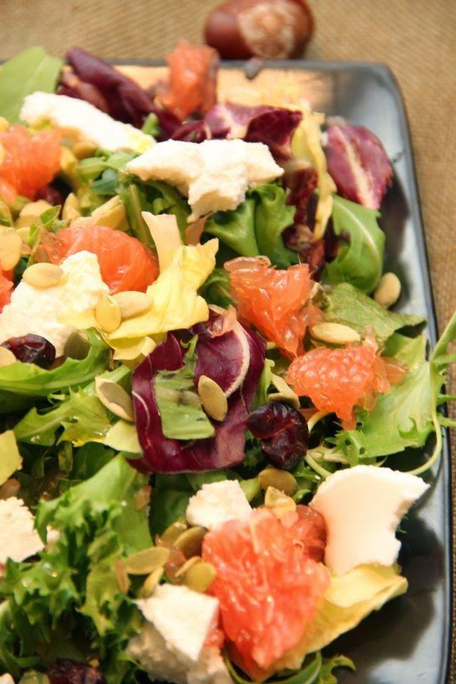 Kuchnia w wersji light: Sałatka z grejpfrutem i ricottą
