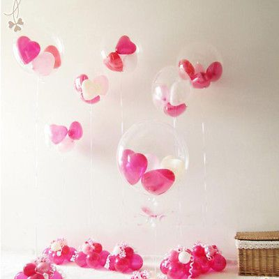100x Latex Luftballons Transparent Ballon Hochzeit Party Deko Riesenballon