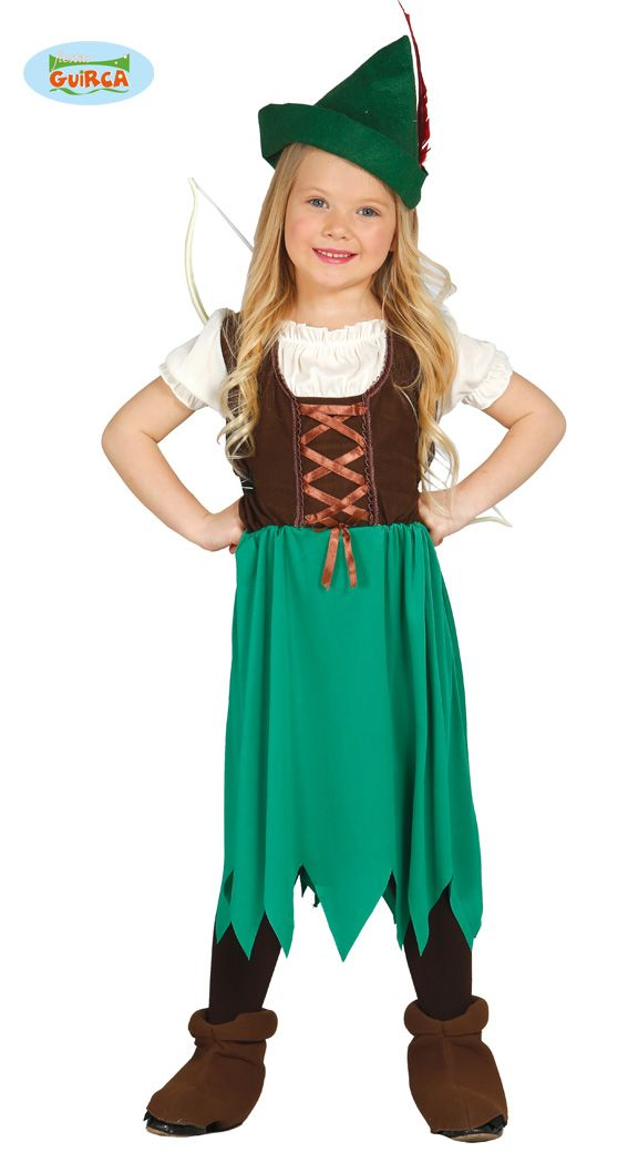 Boys Robin Hood Costume Childs Peter Pan Fancy Dress Kids Book Week Day Outfit