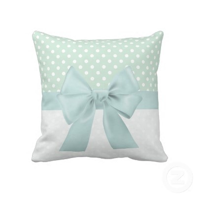 pillows -would be cute to do in light pink polka dots or blue for a babies room