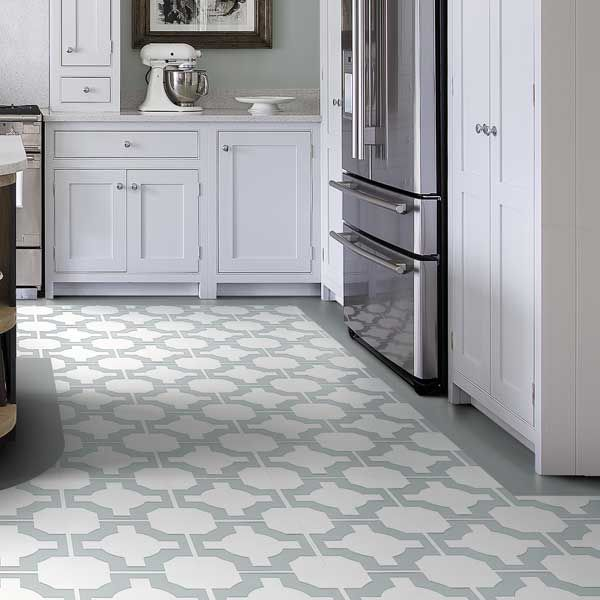 Grey Kitchen Lino: Luxury Vinyl Tile Sheet Flooring Unique Decorative Design