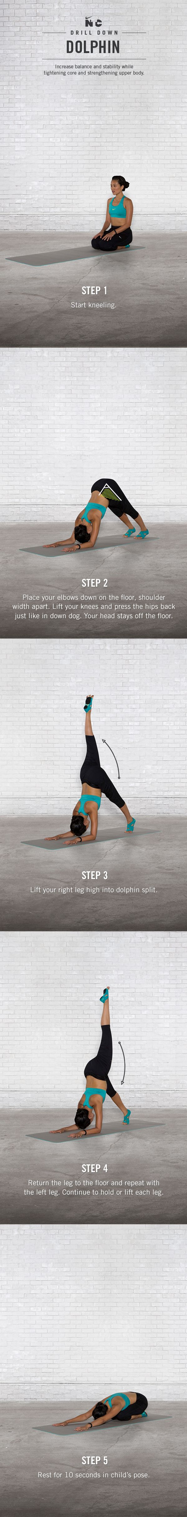 Dolphin Drill Down. #yoga #ntc #nike #stretch