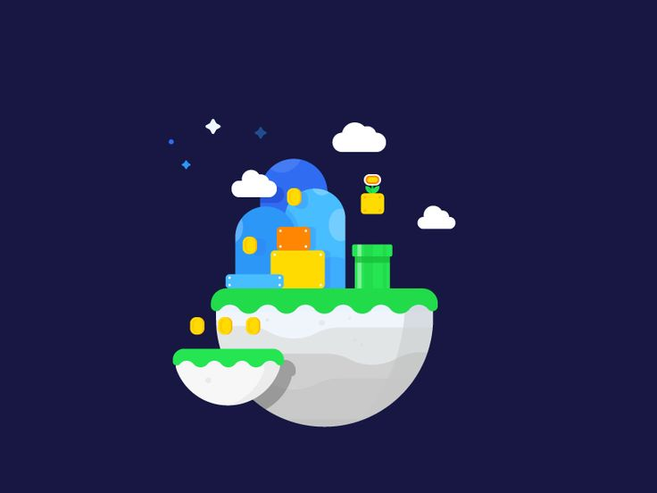 Mario World by MBE #Design Popular #Dribbble #shots