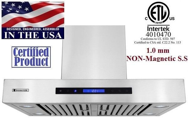 XtremeAir Non Magnetic Stainless Steel Wall Mount Range Hood PX06-W36