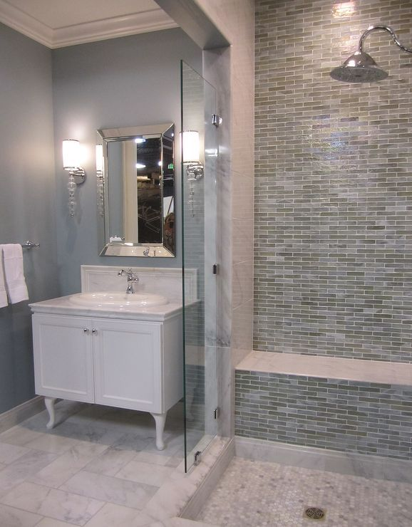 1000 ideas about blue gray bathrooms on pinterest blue - Bathroom paint colors with gray tile ...