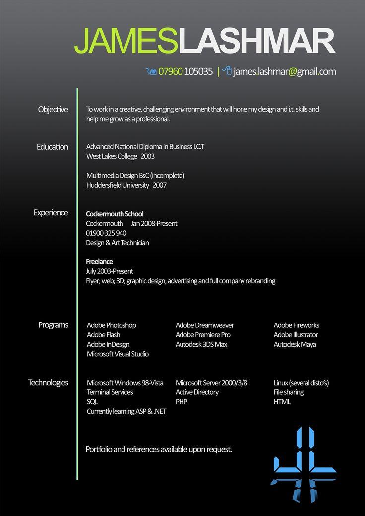 20 best professional CV images on Pinterest Professional cv - ict specialist sample resume
