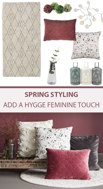 Add a feminine hygge touch to your home this spring. Think rose pinks 345854841f