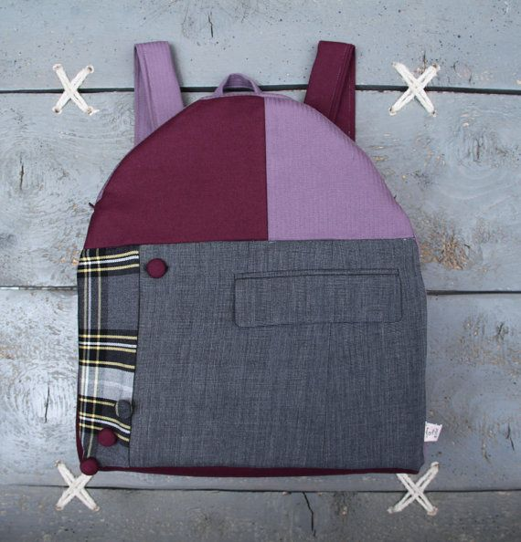 """Large stylish upcycled backpack by """"eating the goober"""""""