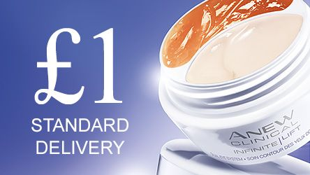 £1 standard delivery when you spend £10 or more online with your Representative