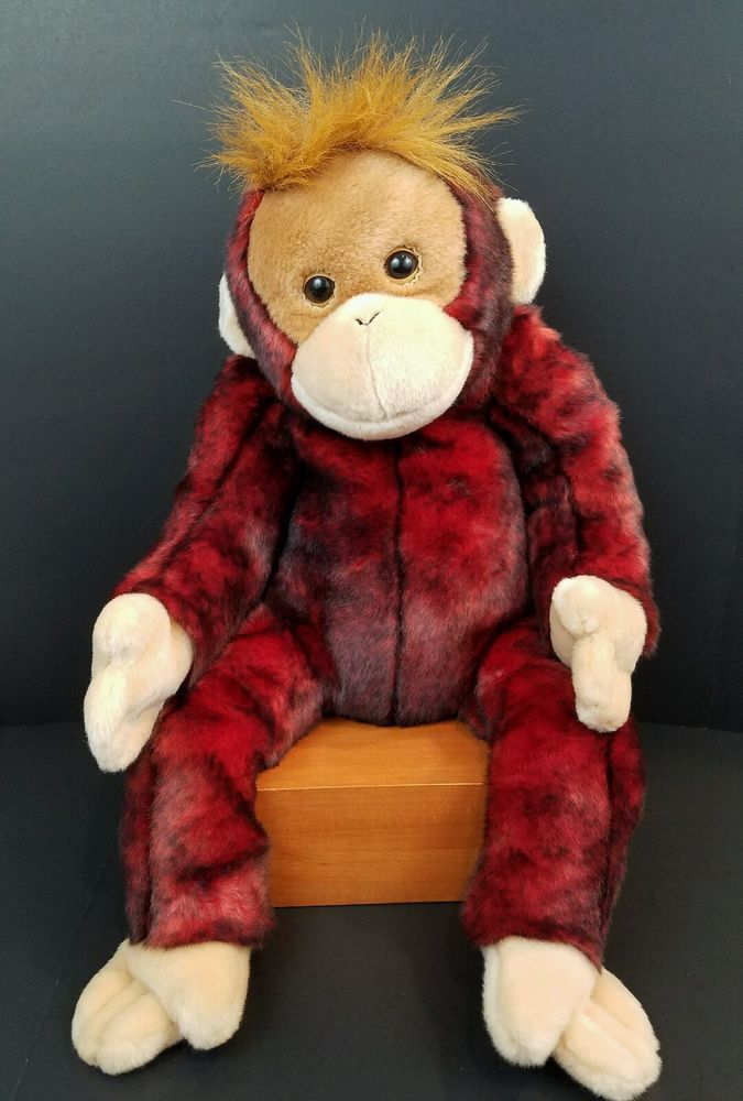 "Ty Beanie Buddies Red Monkey Large Schweetheart Plush Stuffed Animal 2000 20"" #Ty"