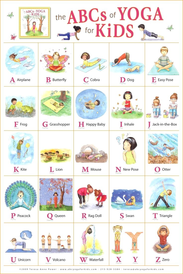 """Kathleen Rietz - Illustration and Design: """"The ABCs of Yoga for Kids"""" poster"""