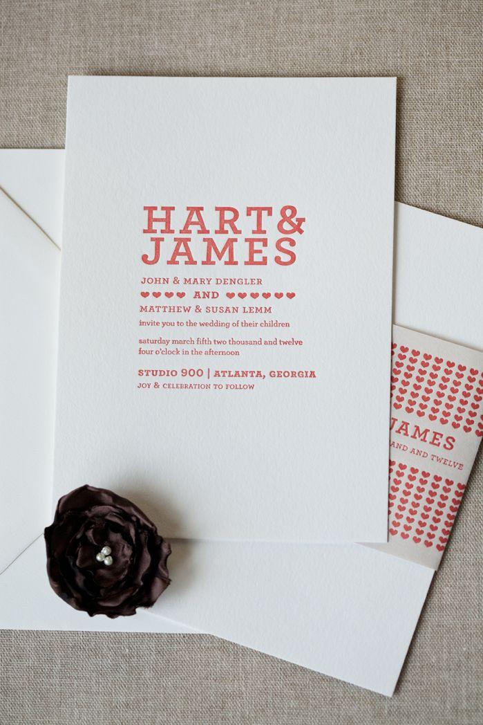 Modern Wedding Invitations from Alee Press