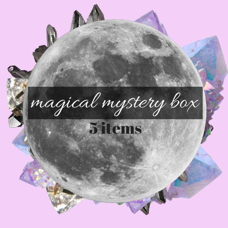 Magical Mystery Box - Mystery Box - Crystal Jewelry - Crystal Mystery box - Witchy Mystery Box - Orgone - Crystals - Mala - Jewelry - Zines by shopmoonartist on Etsy