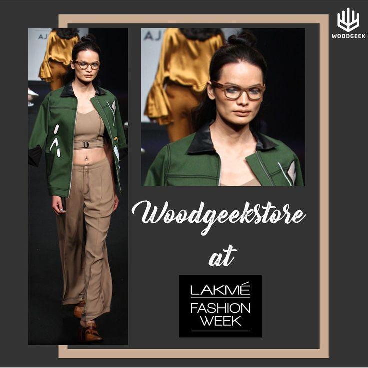 Woodgeek Glasses at Lakme Fashion Week: Athleisure meets geek chic in wooden spectacles! #woodenglasses #lakmefashionweek