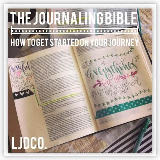 How to get started with your Journaling Bible.