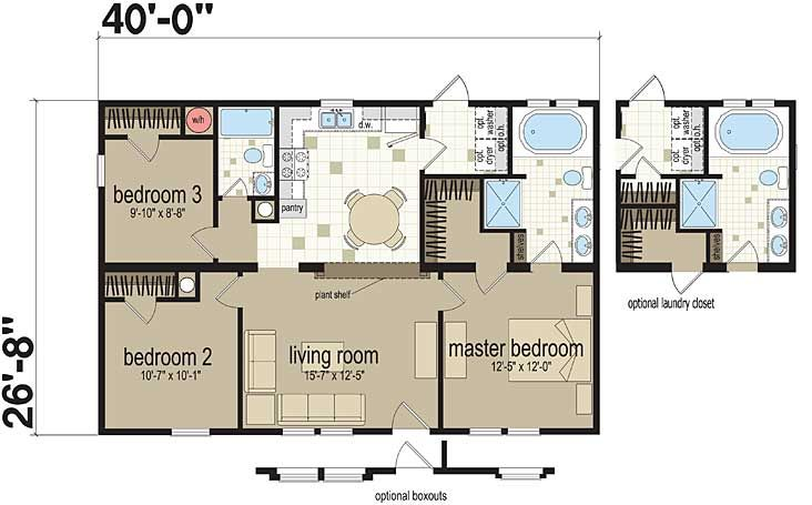 20 Best Ranch & Single Story Floorplans Images On