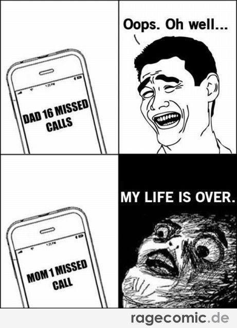 Funny Rage Comics Mom Calling Meme