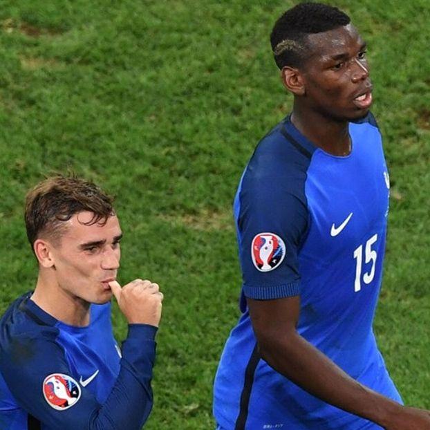 Antoine #Griezmann e Paul #Pogba #Francia