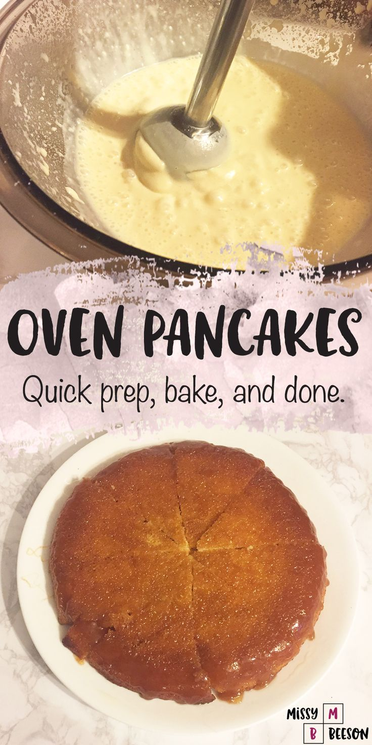 Oven Pancakes. This pancake recipe is so simple and delicious! Add this to your breakfast recipes for a crowd or for a small gathering. It will disappear!