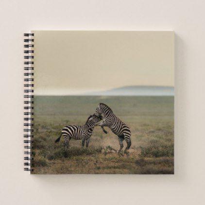 Two Plains Zebras Notebook - plain gifts style diy cyo