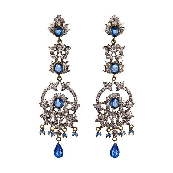 Blue Victorian Earrings (795 VEF) ❤ liked on Polyvore featuring jewelry, earrings, accessories, jewelry earrings, fashion jewelryearrings, fancy earrings, blue earrings, victorian jewellery, earrings jewelry and bezel set earrings