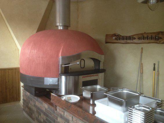 Pizza pec FG-i na plyn/drevo + vyhrievaná varná doska