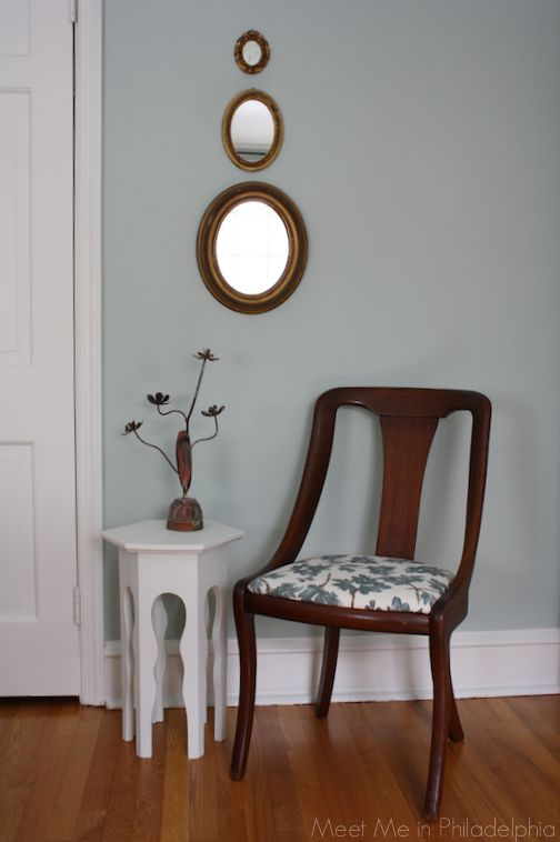"""Preview of my guest bedroom, painted """"Palladian Blue"""" by Benjamin Moore"""