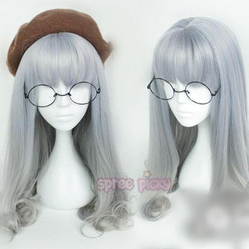 Purple Grey Harajuku Lolita Wig SP166221