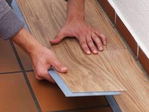 Detail PVC-Planken verlegen