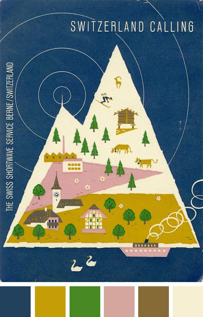 vintage ham radio QSL card : joseph veasey museum (via designworklife)