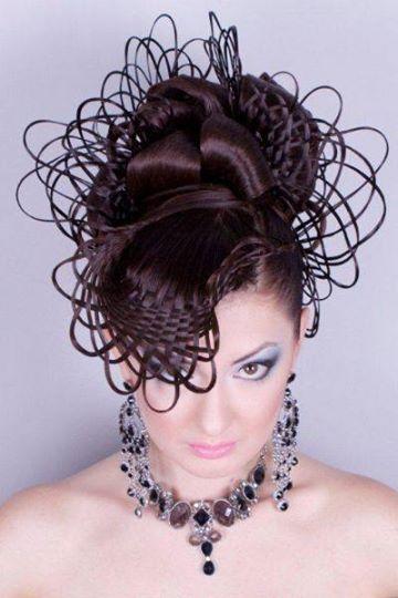 Russian stylist Georgiy Kot creates a jaw-dropping basket-weave hairstyle! #HotOnBeauty