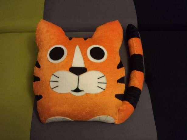 Poduszka Przytulanka Duży Kot Tygrys Minky na Prezent Pilica - image 1