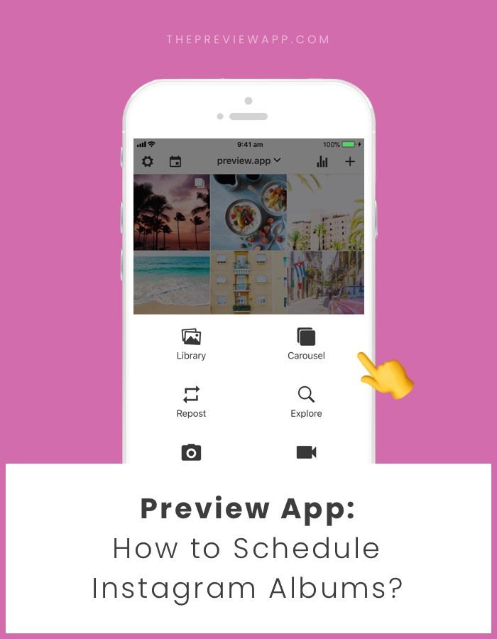 How To Schedule Multiple Photos In One Post Using Preview App Instagram Preview App Preview Instagram First Instagram Post