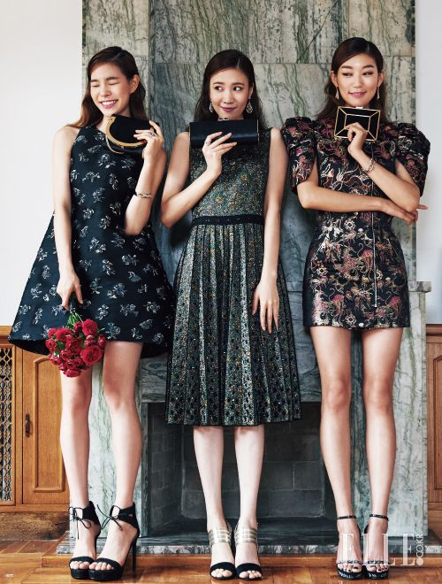 Choi Jun Young, Choi A Ra, Jin Jung Sun, Jin Ah Reum by Kim Young Jun for Elle Korea Wedding Sept 2015