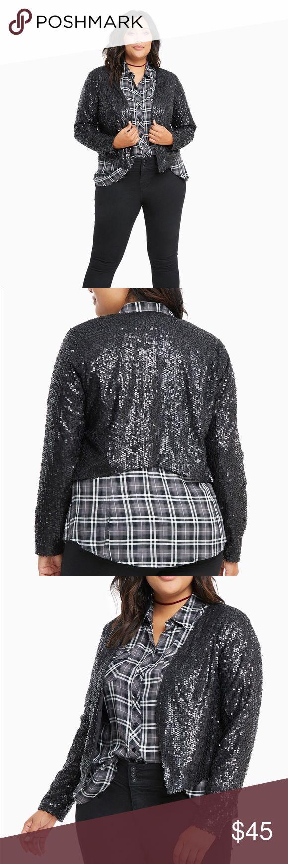 NWT Torrid Sequin Blazer Retails for 58.90. Size 1. torrid Jackets & Coats Blazers