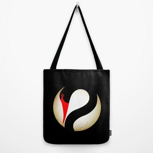 Black Swan Logo Tote Bag by chobopop | Society6