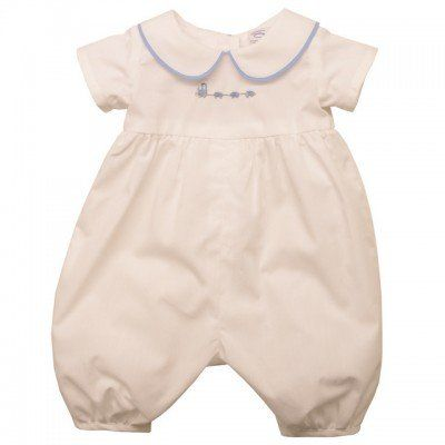Vintage inspired romper Prince George style with #PeterPan collar! Vintage Baby Clothing