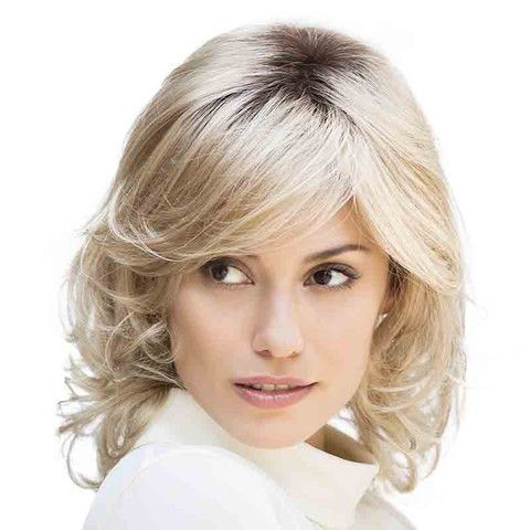 RC Autumn Ladies Wig by Gisela Mayer. Incredibly fashionable with the soft curls. Shoulder length piece, and is available in beautiful colour  variations.  Easy ­care, easy to clean, and has a mono top for added comfort.