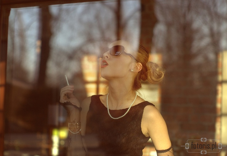 woman, portrait, kobieta, portret, papieros, cigarette, retro