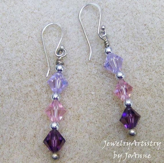 Swarovski Crystal Earrings  Handmade Sterling by JewelryArtistry, $29.00