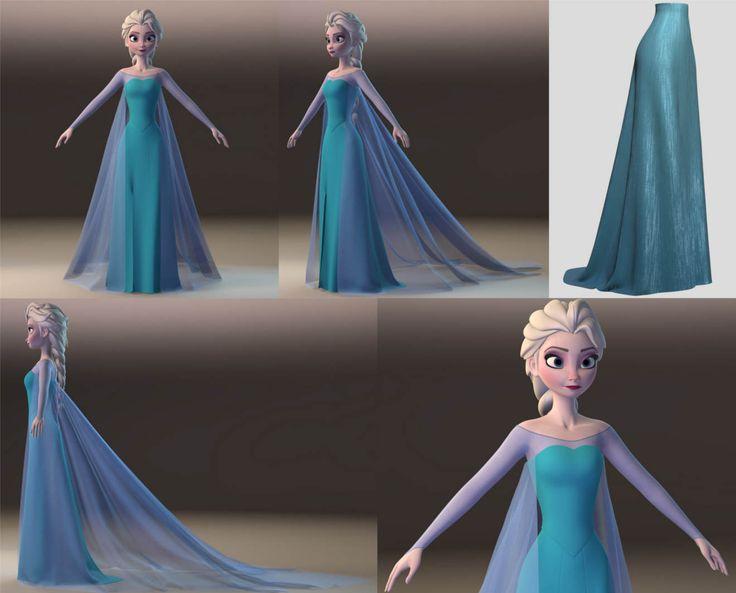 Making Of Disney's Elsa from Frozen Ela 3D Model modering