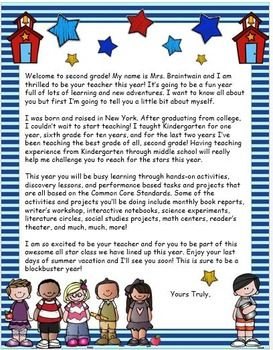 BACK TO SCHOOL WELCOME LETTER TO STUDENTS {EDITABLE} - TeachersPayTeachers.com
