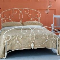 Aroona Cast Bed Head - Queen Size Glossy Ivory
