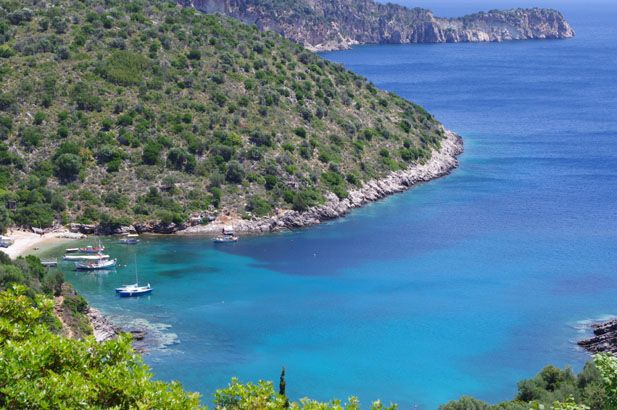 Ithaca: dramatically beautiful, rugged, relatively undeveloped, green and mountainous with steep blue indented bays and charming little harbours & villages. #FiveStarGreece #LuxuryVillas #HolidayMatchmakers