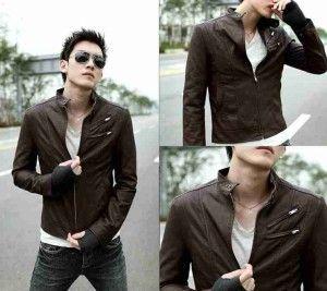 Jaket Kulit Pria Korean Style; Kode: A-024