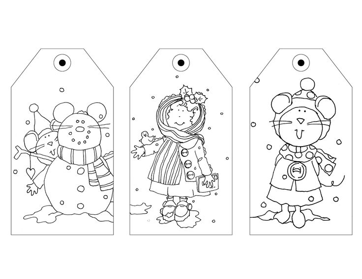 Free Dearie Dolls Digi Stamps: Gift tags